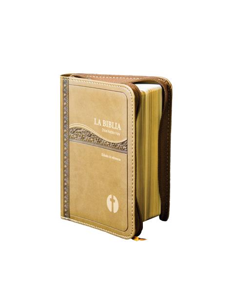 Dios Habla Hoy bolsillo / Curpiel colores varios con cierre y canto dorado s/i-541