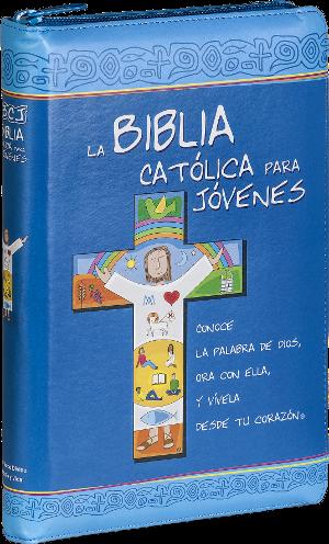 Biblia Católica para Jóvenes curpiel con cierre , 2 tintas c/i-730