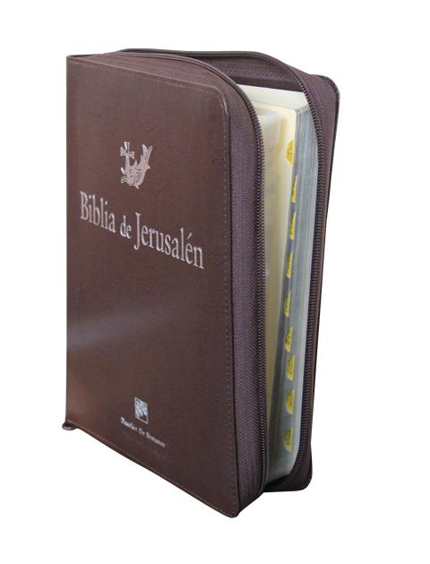 Jerusalén Manual, Letra Grande, Curpiel con cierre , c/i-0
